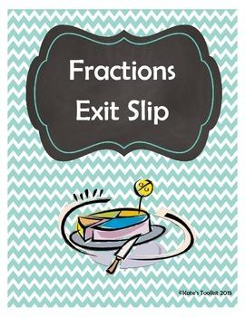 Fractions Exit Slip