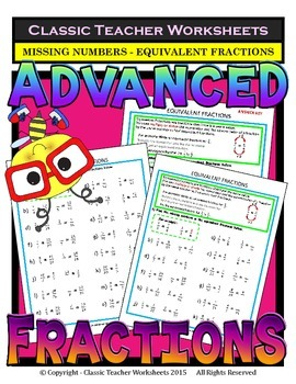Fractions-Find Missing Number in Equivalent Fractions Grad