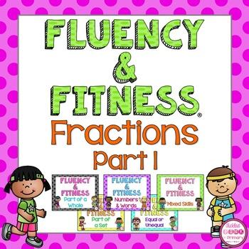 Fractions Fluency & Fitness Brain Breaks Bundle