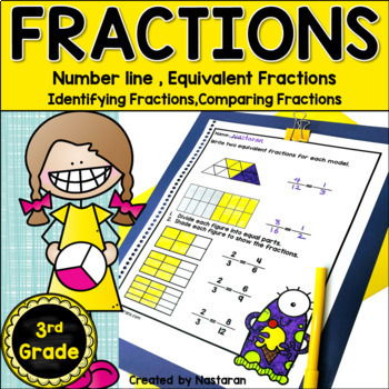 3rd Grade Fractions Unit{Equivalent Fractions,Fractions on