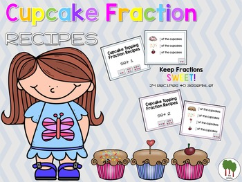 Fractions - Fraction Cupcakes - Build a Cupcake - Fraction