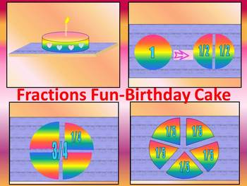 Fractions - Birthday Cake - PowerPoint presentation
