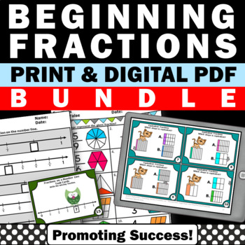 3rd Grade Common Core Math Fractions BUNDLE Activities ALL