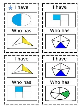 Fractions ~ I have Who has