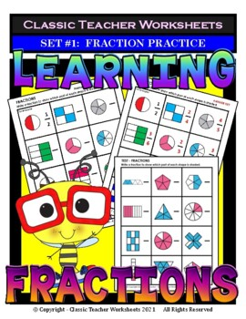 Fractions - Introduction to Fractions - Set #1 - Grades 2-