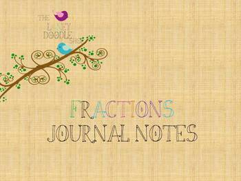 Fractions Journal Notes