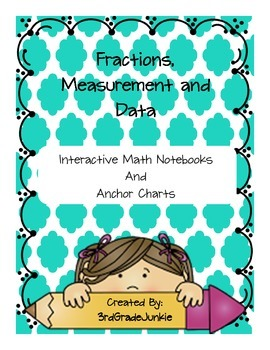Fractions, Measurement, and Data Interactive Notebook and