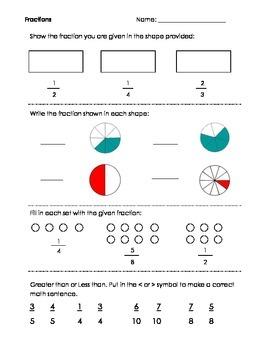 Fractions Mini-Assessment