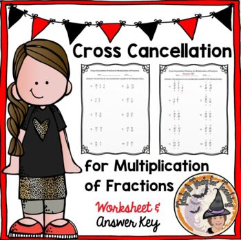 Fractions Multiplication Cross Cancellation Practice Worksheet