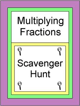 Fractions - Multiplying Fractions (Scavenger Hunt / Circui
