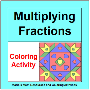 Fractions - Multiplying Proper Fractions # 1 - Coloring Activity
