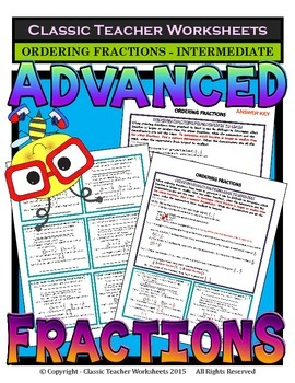 Fractions -Ordering Fractions Least to Greatest & Greatest