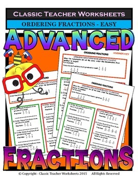 Fractions - Ordering Fractions from Least to Greatest & Gr
