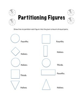 Fractions- Partitioning Figures