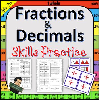 5th Grade Fractions, Percents, and Decimal Resource 5.NBT   5.NF