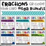 Fractions QR Code Task Card Mega Bundle