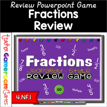 Fractions Review Game- Reviewing Fractions