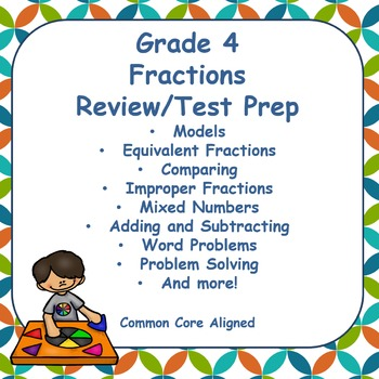 Fourth Grade Fractions Review and Test Prep