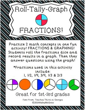 Fractions Roll Tally Graph! Graphing & Fractions in ONE activity!