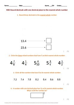 Fractions:  Rounding to the nearest whole number