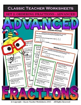 Fractions - Set #2: Ordering Fractions - Advanced - Grades