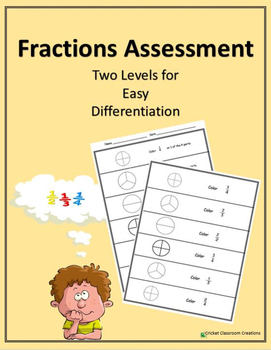 Fractions: Simple Assessment - Two Different Levels
