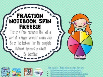 Fractions Spinner Freebie