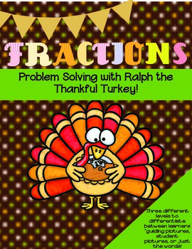 Fractions Task Cards B&W (Thanksgiving Theme)