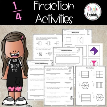 Fractions Task Cards and worksheets Activity