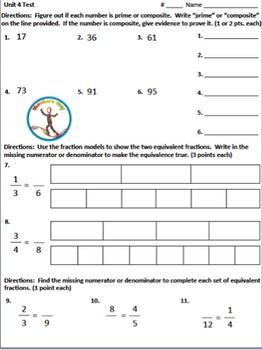 Fractions Test & Review