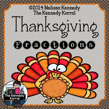 Fractions {Thanksgiving, Center, Matching Activity}