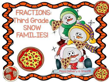 Fractions: Third Grade (Snowmen)
