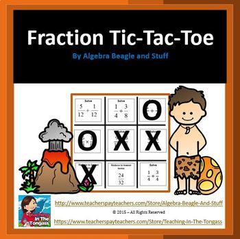 Fractions Tic Tac Toe Game