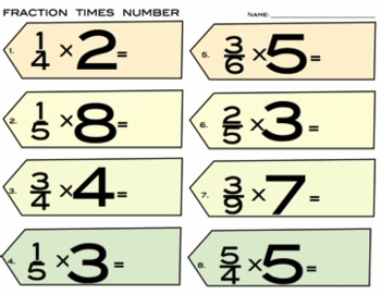 Fractions Times Number - 5.NF.4