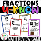 Fractions Game for Math Centers or Stations