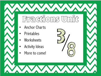 Fraction Activities, Anchor Charts, and More!