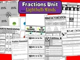 Fractions Unit from Lightbulb Minds