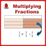 Fractions Worksheets, 4th Grade, 5th Grade - Multiplying F