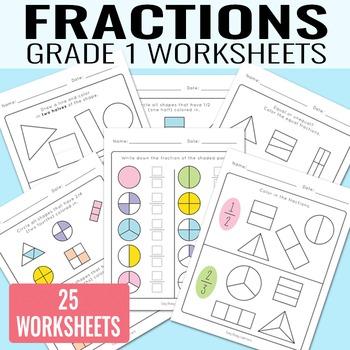 Fractions Worksheets for Grade 1