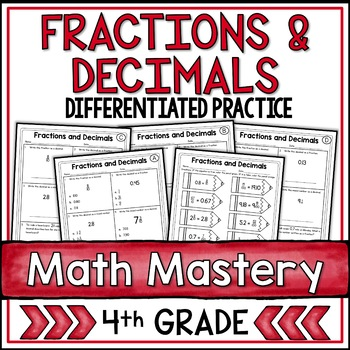 Fractions and Decimals (4th Grade Common Core Math: 4.NF.6)