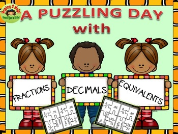 Fractions and Decimals Puzzle Activity