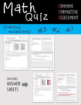 Fractions and Decimals Quiz