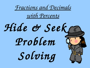 Fractions and Decimals with Percents 6.1a,6.2b,6.2a,6.11a