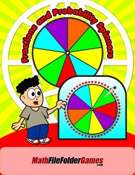 Fractions and Probability Spinners {Math Games}