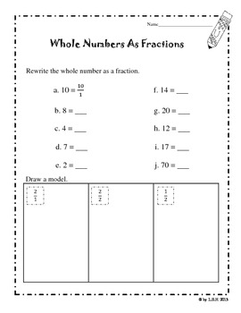 Worksheets Whole Numbers And Fractions Worksheets fractions and whole numbers worksheets by loida howard teachers worksheets