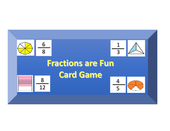 Fractions are Fun, Fraction Card game and activity