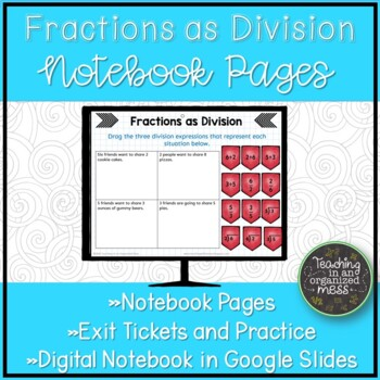 Fractions as Division--Interactive Notebook Page