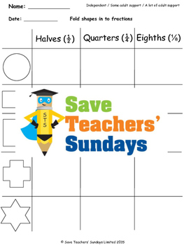Fractions (equal parts) Lesson Plans, Worksheets and More