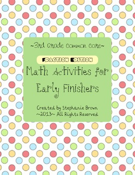 Fractions for Early Finishers