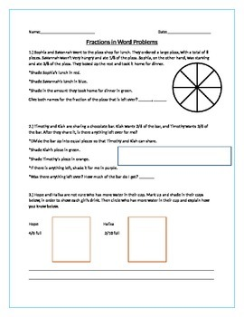 Fractions in Word Problems